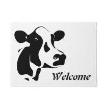 Welcome Cow Door Mat