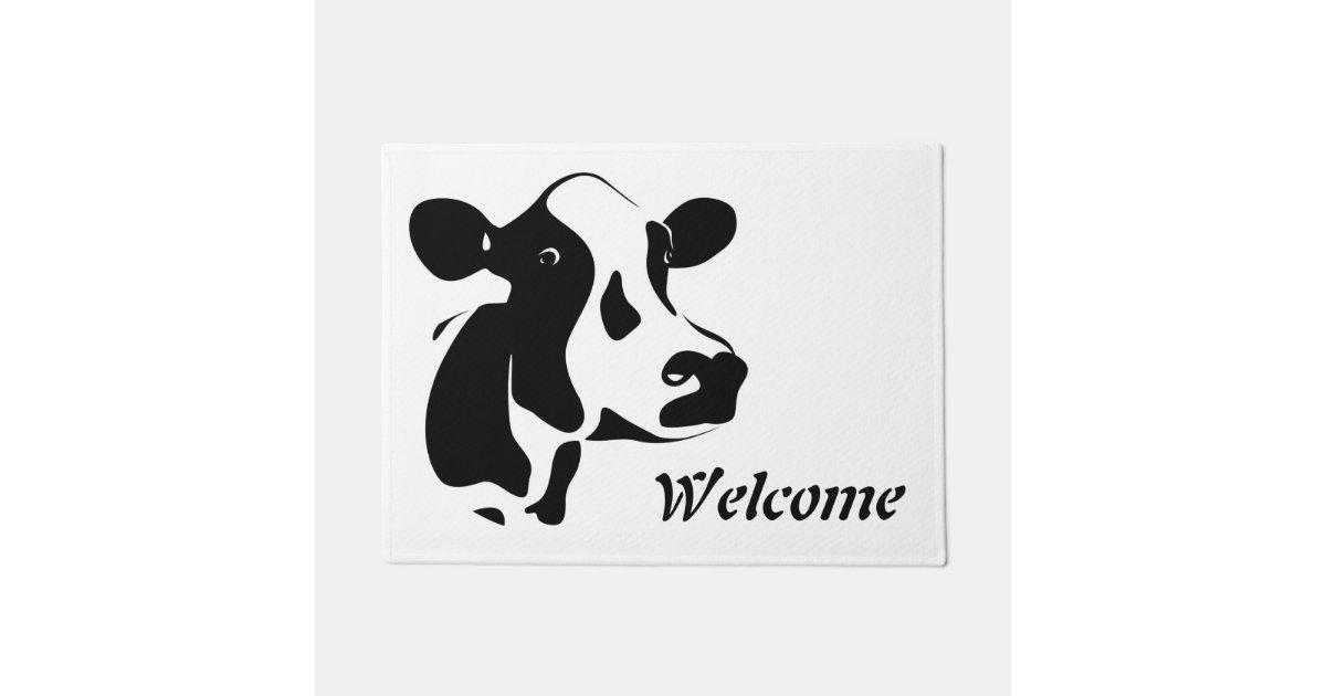 Welcome Cow Door Mat Zazzle Com