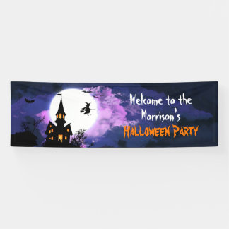 Welcome Creepy Haunted House Halloween Party Banner