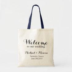 Welcome Custom Wedding Hotel Gift Tote Bag at Zazzle