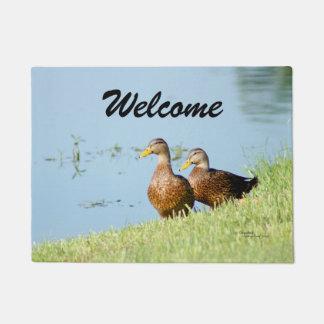 Welcome Cute Ducks Doormat