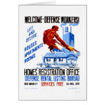 Welcome Defense Workers 1941 WPA