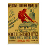 Welcome Defense Workers Advertisement Poster 1941 Postcard