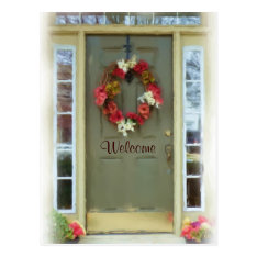 Welcome Door New Home Just Moved Postcard at Zazzle