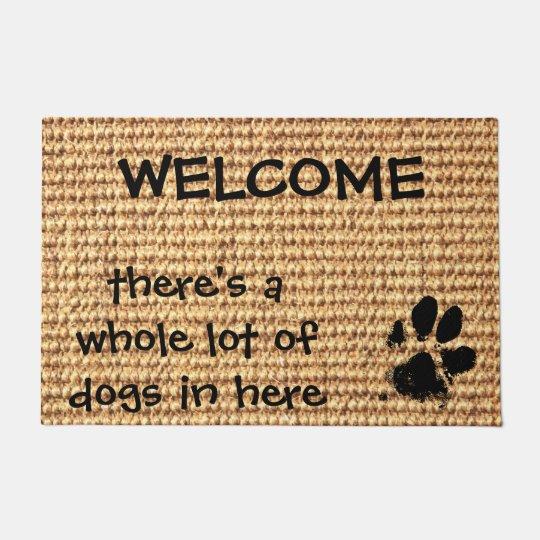 Welcome Doormat   Dog Paw Print Doormat