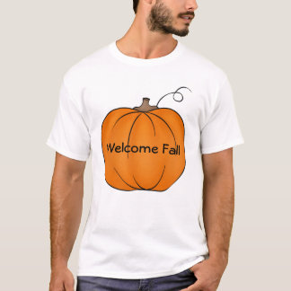 Welcome Fall fat pumpkin t shirt for your text
