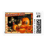 Welcome Fall Postage Stamp
