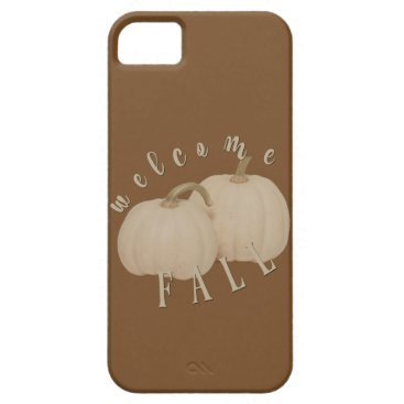 Halloween Themed Welcome Fall Rustic White Pumpkins iPhone SE/5/5s Case