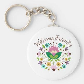 Welcome Friends Bouquet Keychain