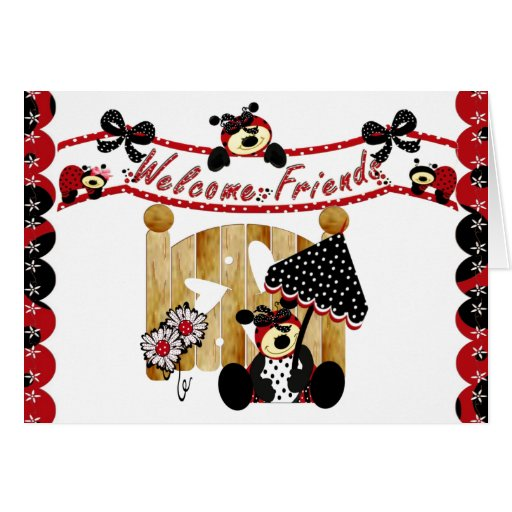 Welcome Friends Stationery Note Card