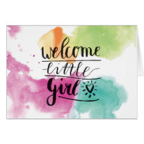 welcome girl card