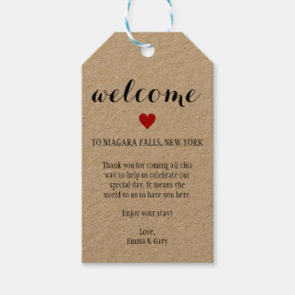 Welcome Guests Destination Wedding Tag