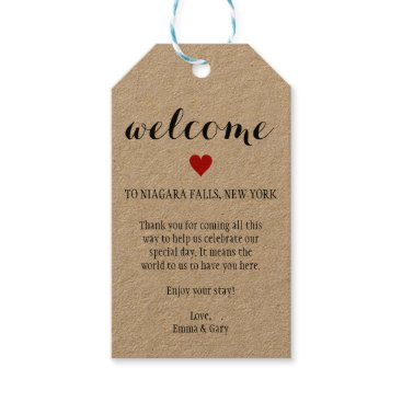 KaliValy Welcome Guests Destination Wedding Tag