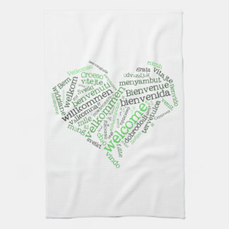 Welcome Heart Kitchen Towels