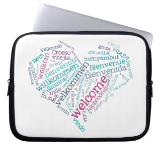 Welcome Heart (many languages) Laptop Bag