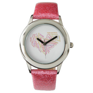 Welcome Heart (many languages) Wrist Watch