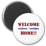 Welcome Home: 3 hearts 2 Inch Round Magnet