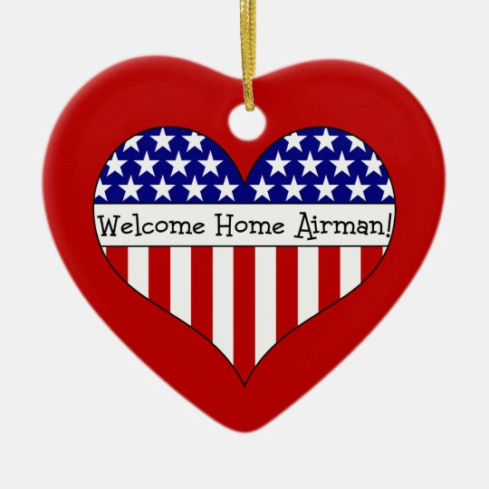 Welcome Home Airman! Ceramic Ornament