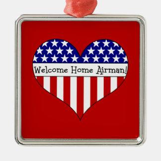 Welcome Home Airman! Metal Ornament