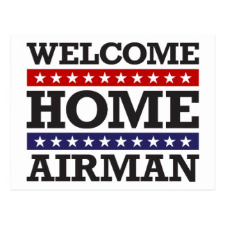Welcome Home Airman Post Card
