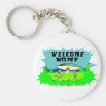 Welcome Home Aliens Basic Round Button Keychain