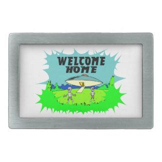 Welcome Home Aliens Belt Buckle