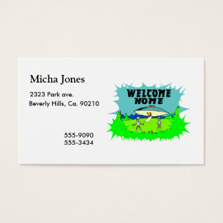 Welcome Home Aliens Business Card