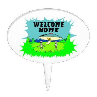 Welcome Home Aliens Cake Topper