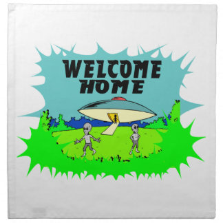 Welcome Home Aliens Cloth Napkin