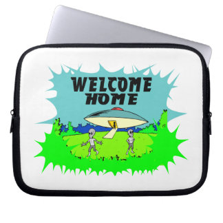Welcome Home Aliens Laptop Sleeve