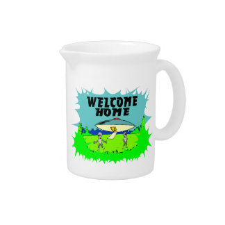 Welcome Home Aliens Drink Pitchers