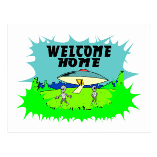 Welcome Home Aliens Postcard