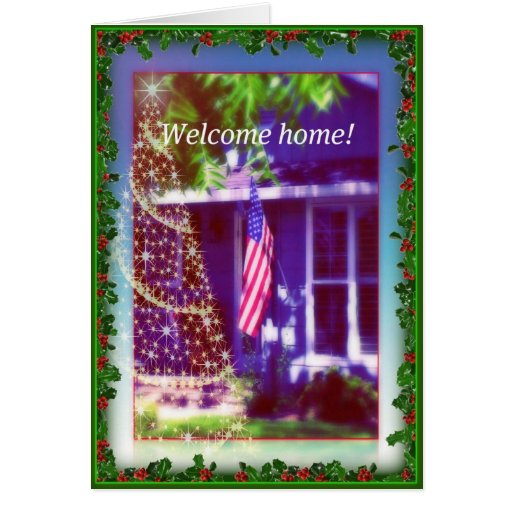 Welcome home and merry christmas military card zazzle for Welcome home troops decorations