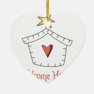 Welcome Home Applique Ceramic Ornament