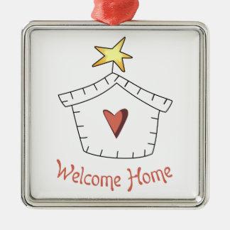 Welcome Home Applique Metal Ornament