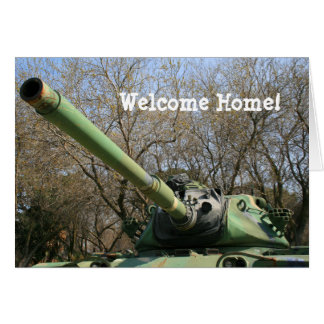 Welcome Home Army Tank Greeting card