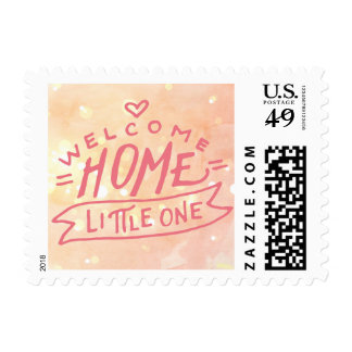 Welcome Home Baby Girl Birth Announcement Postage