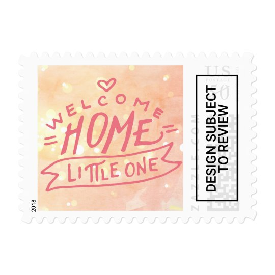 welcome home baby girl birth announcement postage zazzle com