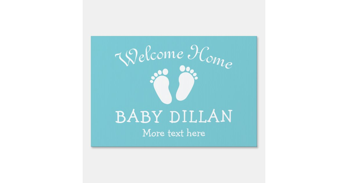 Welcome Home Baby Shower Yard Sign With