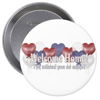 Welcome Home Balloons Pinback Button
