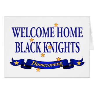 Welcome Home Black Knights Card