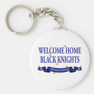 Welcome Home Black Knights Keychain