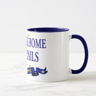 Welcome Home Blue Tails Mug