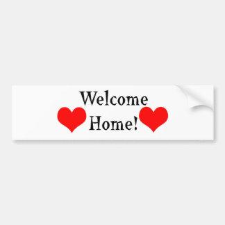 Welcome Home Bumper Sticker