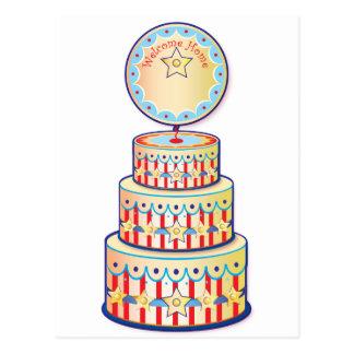 Welcome Home Cake Template Postcard