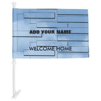 Welcome Home Car Flag
