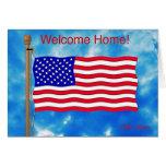 Welcome Home Card for Servicemen, Servicewomen
