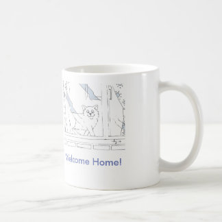 Welcome Home Cat Coffee Mug