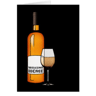 welcome home champagne stationery note card