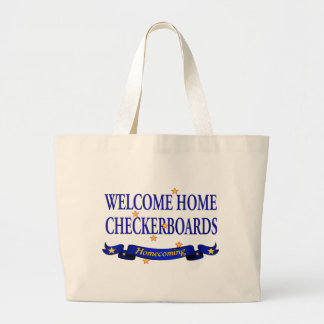 Welcome Home Checkerboards Canvas Bags